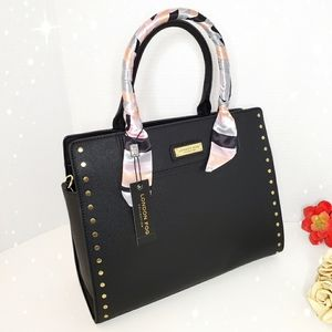 🎁 London Fog Vegan Leather Satchel Bag 💫